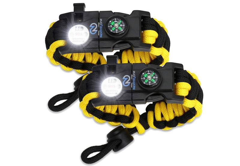 Nexfinity One Survival Paracord Bracelet - Tactical Emergency Gear Kit with SOS LED Ligh